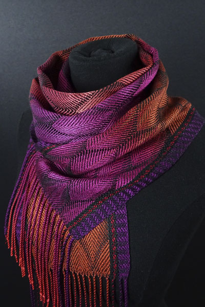Handwoven scarf from Loominarias